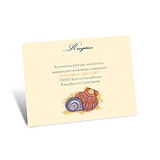 Tropical Seashells Reception Card