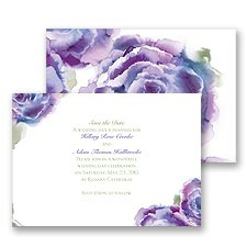 Rosy Watercolors Save the Date - Orchid