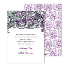 Ornate Flowers Save the Date