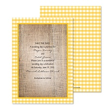 Love Gingham Save the Date - Marigold