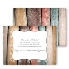 Wooden Colors Save the Date