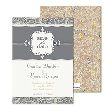 Sophisticated Paisley Save the Date