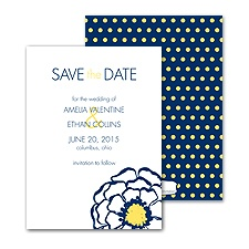 Posy Dots Save the Date - Eclipse