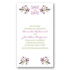 Floral Heart Save the Date - Fuchsia