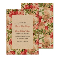 Vintage Florals Save the Date
