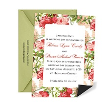 Vintage Florals Save the Date Magnet