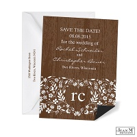 Woodland Flowers Save the Date Magnet
