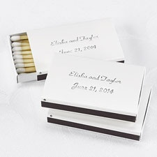 White Favor Matchboxes