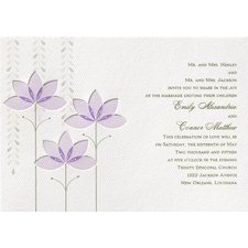 Deco Lilies Wedding Invitation - Tiana