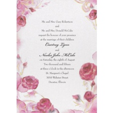 Briar Rose Wedding Invitation - Aurora