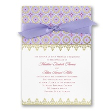 Exotic Romance Wedding Invitation - Jasmine