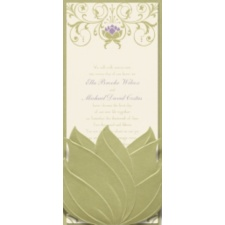 Water Lily Wedding Invitation - Tiana