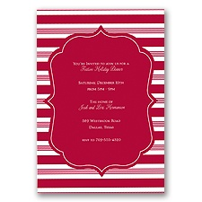 Candy Stripes Holiday Invitation