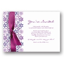 Kaleidoscope Snowflakes Holiday Invitation