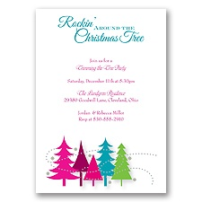 Rockin' Christmas Holiday Invitation