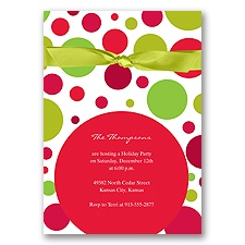 Dotted Merry Holiday Invitation