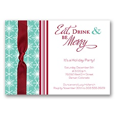 Merry Party Holiday Invitation
