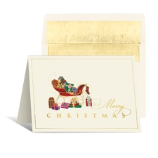 Vintage Sleigh Holiday Card