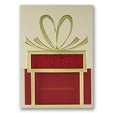 Red and Gold Greeting Holiday Card