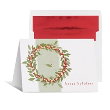 Charming Wreath Holiday Card