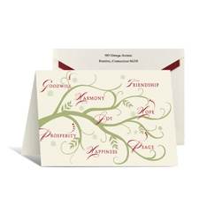 Seasonal Sentiments Holiday Card