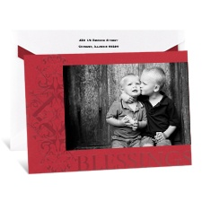 Blessings Photo Holiday Card