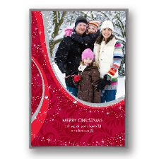 Winter Night Layered Photo Holiday Card