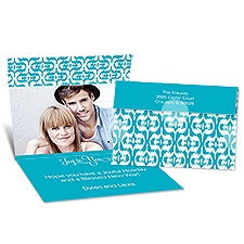 Ikat Style Seal and Send Photo Holiday Card - Palm