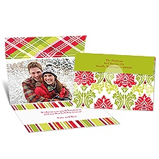 Christmas Damask Seal and Send Photo Holiday Card