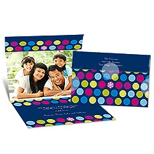 Dot Delight Seal and Send Photo Holiday Card - Eclipse