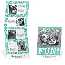 Fun Snowflakes Storyline Photo Holiday Card - Surf