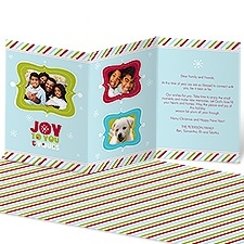 Joyful Stripes Photo Holiday Card