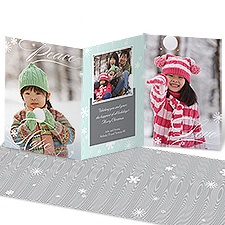 Snowy Wishes Photo Holiday Card