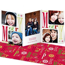 Merry Wishes Photo Holiday Card