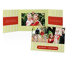 Plaid Greetings Photo Holiday Card