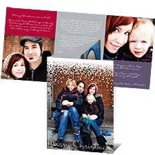Flurry of Color Photo Holiday Card