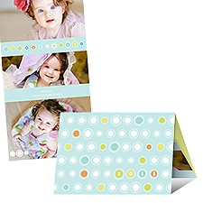 Mod New Year Photo Holiday Card - Aqua