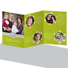 Snowy Frames Storyline Photo Holiday Card - Granny Apple