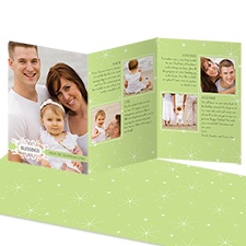 Snowy Blessings Storyline Photo Holiday Card - Pear