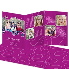 Oh What Fun Storyline Photo Holiday Card - Amethyst