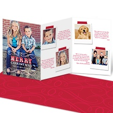 Merry Greetings Storyline Photo Holiday Card - Velvet