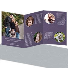 New Year Greetings Storyline Photo Holiday Card - Raisin