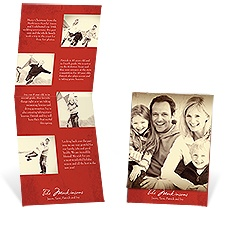 Vintage Argyle Storyline Photo Holiday Card