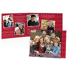 Many Wishes Storyline Photo Holiday Card