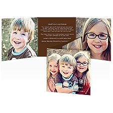 Be Merry Photo Holiday Card - Espresso