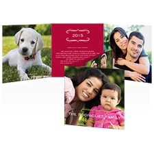 So Striped Photo Holiday Card - Merlot
