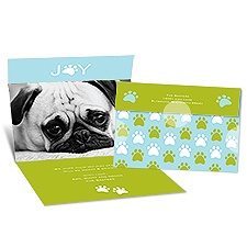 Paws for Joy Seal and Send Photo Holiday Card - Granny Apple