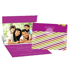 Special Gift Seal and Send Photo Holiday Card - Amethyst