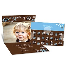 Be Merry Seal and Send Photo Holiday Card - Espresso