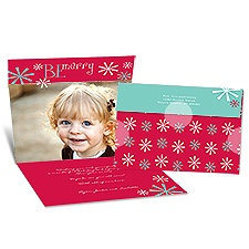 Be Merry Seal and Send Photo Holiday Card - Velvet